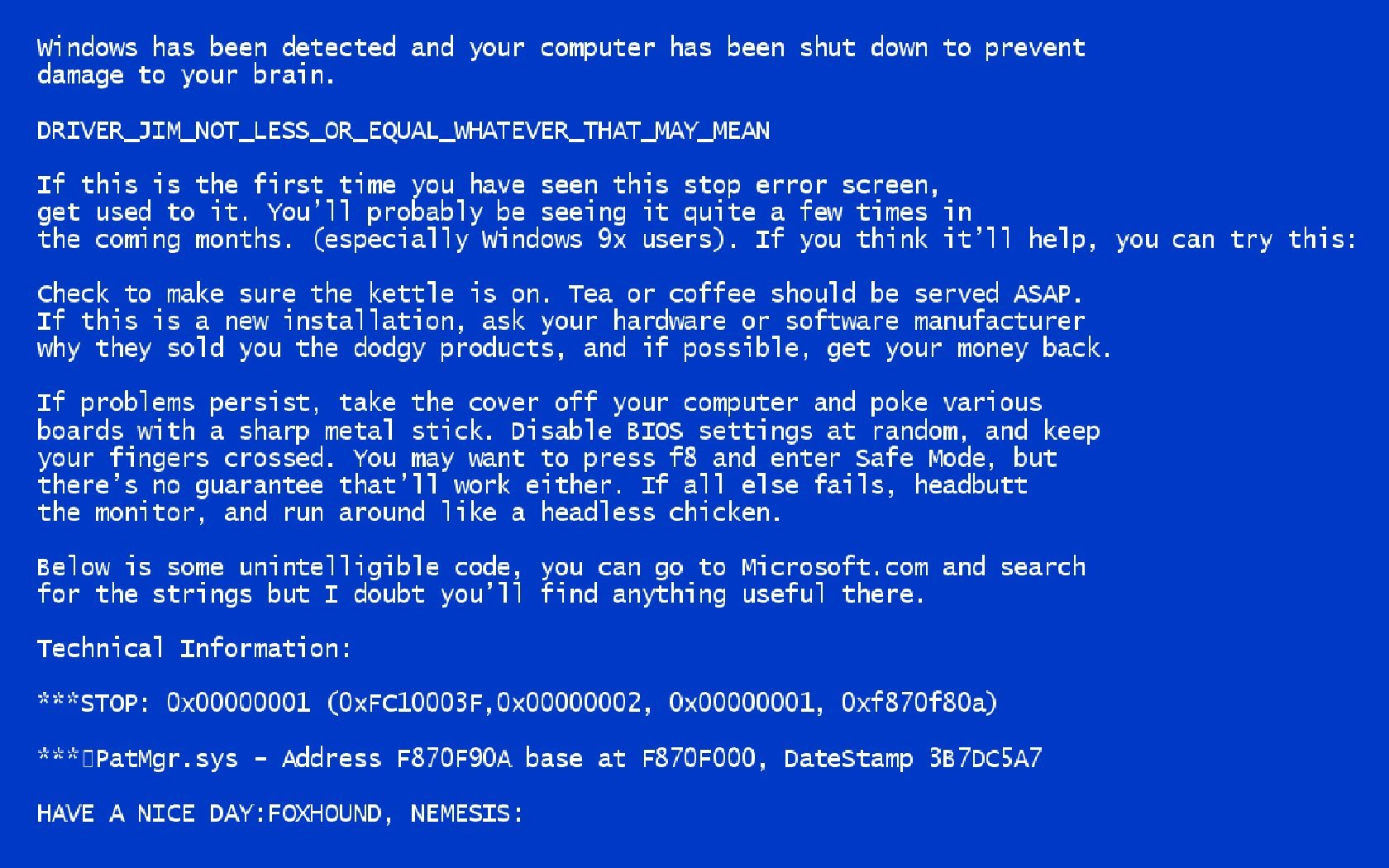 Fix It Ticket >> BSoD: what is it and how do I fix it? – Official Site: NeTTronix (NTS) IT Services, Network Security
